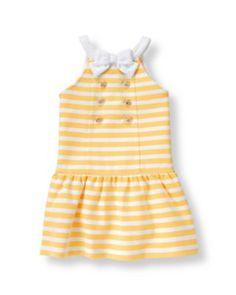 janie and jack yellow stripe dress