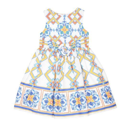 Pippa and Julie Ann Tile Print Dress