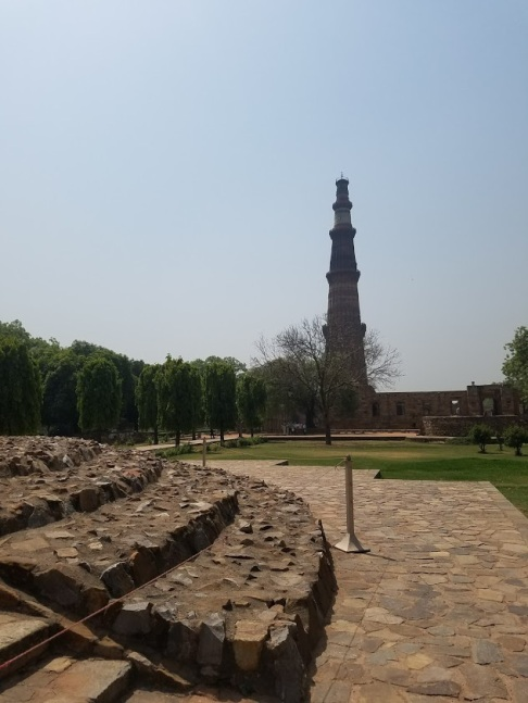 minar in the distance